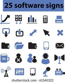 25 software signs. raster version
