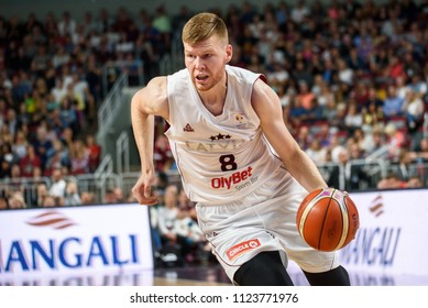 25.06.2018. RIGA, LATVIA. Friendly basketball game National men's basketball team of Latvia and National men's basketball team of Russia.