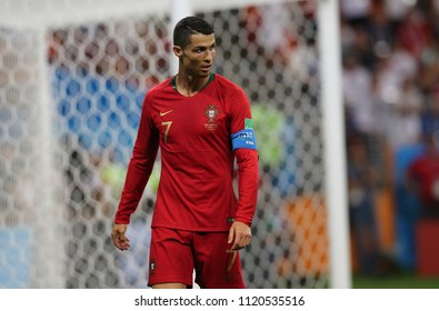 25.06.2018. Saransk, Russian:CRISTIANO RONALDO  in action during the Fifa World Cup Russia 2018, Group B, football match between IRAN V PORTUGAL  in MORDOVIA ARENA STADIUM in SARANSK.