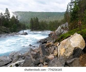 25.07.2016 mountain river of Framruste in Oppland Norway