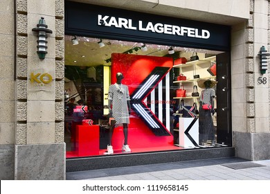 Düsseldorf,GERMANY-MAY 25,2018: KARL LAGERFELD fashion store.