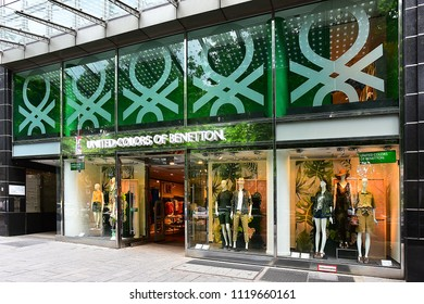 Düsseldorf,GERMANY-MAY 25,2018: UNITED COLORS OF BENETTON fashion store.