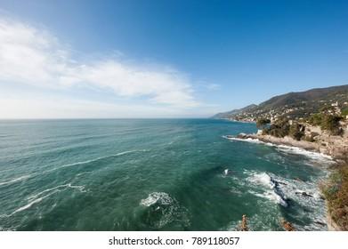 25/5000 Ligurian coast of the east
