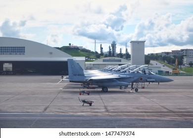 25/7/2019 , Fighter plane US Air Force at cantonment US in Japan , Okinawa airport , Japan.