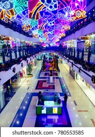 25-December-2016 Z Square Mall, Kanpur (UP) India, Beautifully decorated on the ocassion of Christmas and New Year.