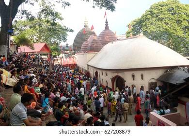 25th June 2016. Assam, India. Ambubachi Mela Festival in Kamakhya Temple in Guwahati. A Hindu Festival where lakhs of devotees attracts.