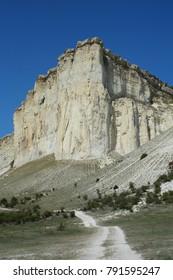 26 August 2017. Views of AK-Kaya — beautiful white rock