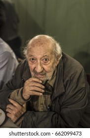 26 December 2015. Istanbul, Turkey: Famous Turkish photojournalist Ara Guler Portrait on December 2015.