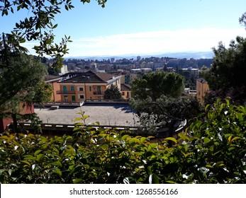 26 DECEMBER 2018- MACERATA, ITALY: Beautiful landscape scene of the city of Mecerata in central Italy.