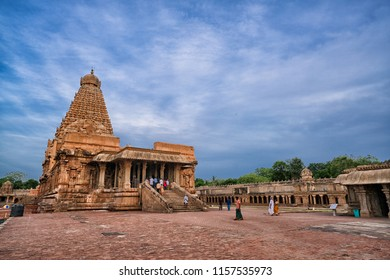 26 JUL 18 : Brihadeeswara Temple or Big Temple in Thanjavur, Tamil Nadu - India ( World Heritage UNESCO site )