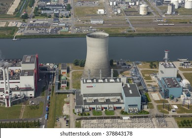 26 June 2015, Moerdijk, The Netherlands. Aerial view of Essent powerplant