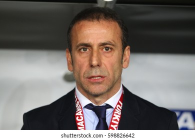 26 March 2013. Istanbul, Turkey. Abdullah Avc? is a Turkish football manager and the former manager of Turkish national football team.