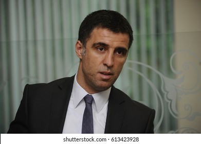 26 May 2011. Istanbul, Turkey. Hakan Sukur is a Turkish retired footballer who played as a striker.