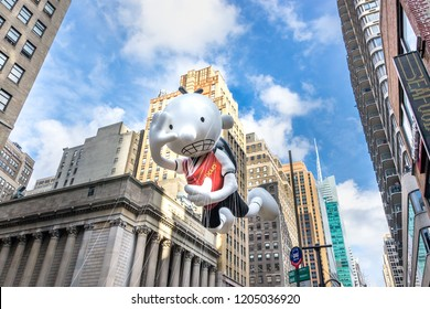 26 November 2015, NEW YORK CITY, NY, Diary of Wimpy Kid   balloon is flown in Macy's Annual Thanksgiving Day Parade New York.