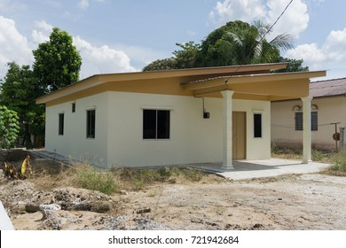 """26 SEP 2017, Perak, Malaysia: View of """"rumah mesra rakyat"""" which is a house under housing scheme initiate by Malaysia government for low income family"""