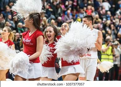 26.02.2018. RIGA, LATVIA.  FIBA Basketball men's World Cup 2019 Qualification game: Latvia - Turkey. Arena Riga.