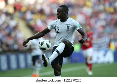 26.06.2018. MOSCOW, Russian: BENJAMIN MENDY in action during the Fifa World Cup Russia 2018, Group C, football match between DENMARK V FRANCE in Luzhniki Stadium MOSCOW.