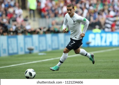 26.06.2018. MOSCOW, Russian:ANTOINE GRIEZMANN  in action during the Fifa World Cup Russia 2018, Group C, football match between DENMARK V FRANCE in Luzhniki Stadium MOSCOW.