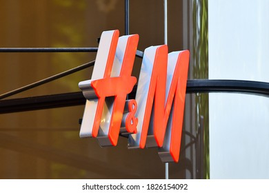 Düsseldorf,Germany-May 26,2018:HM luxury fashion store exterior.