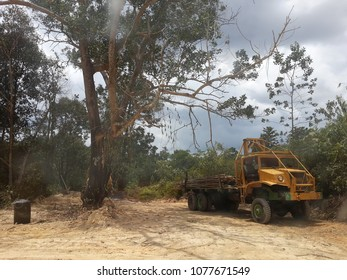 26th April 2018. Ibam,Pahang,Malaysia. Timber Lordy ready for working in the jungle.