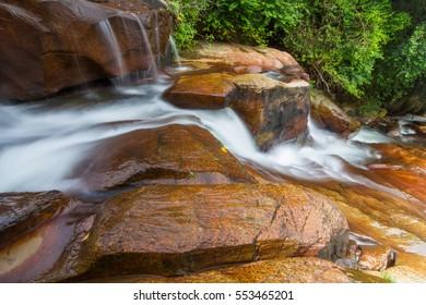 26th Aug 2016, silky water flow at Chin Farm Waterfall, batu ferringgi Penang Malaysia