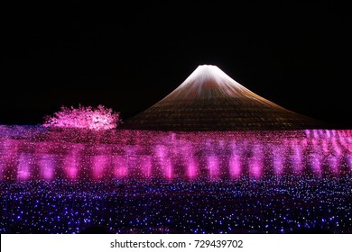 26th March 2014: Fuji Mountain Winter Illumination at Nabana No Sato, Kuwana, Mie Prefecture, Japan