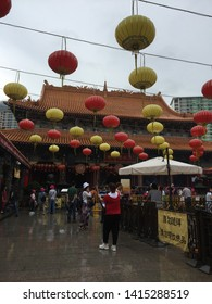 26th May 2019 at Wong Tai Sin temple in Hong Kong . The famous Wong Tai Sin Temple, dedicated to Wong Tai Sin. Everyday Hong Kong people flock to this temple to wish for good health and prosperity.