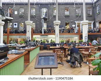 26th September 2018, Dublin. Interior of Powerscourt Shopping Centre on William Street, off Grafton Street in Dublin City