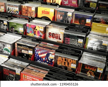 26th September 2018, Dublin. Soul CD music selection in music store