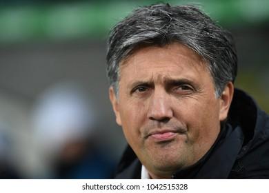 27 FEBRUARY 2018 - WARSAW, POLAND: Polish Extra League LOTTO Ekstraklasa football match Legia Warszawa - Jagiellonia Bialystoko/p Romeo Jozak coach (Legia Warszawa)