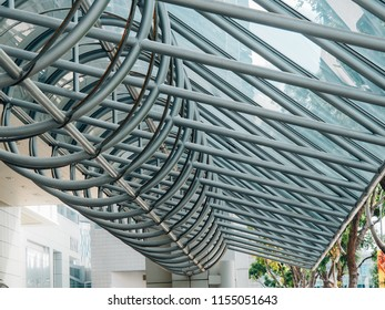 27 july 2018 roof frame at Suntec City a subzone of the Downtown Core in Singapore.