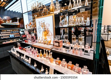 27 July 2019, Paris, France: Boutique chic perfume Dior in Galerie Lafayette