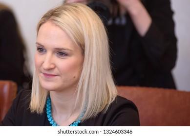 27.02.2019. RIGA, LATVIA. Edgars Rinkevics, Minister of Foreign Affairs of Latvia meeting with Helen McEntee Minister for European Affairs, Fine Gael, Ireland.