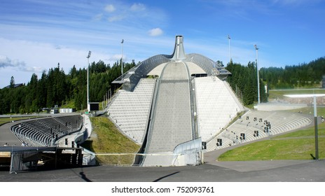 27/08/2013 - Beautiful view of Holmenkollen Ski Museum, sunny day, Oslo, Norway