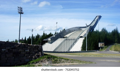 27/08/2013 - View of Holmenkollen Ski Museum, Oslo, Norway