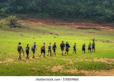 27/10/2016 Periyar National Park India tourists trekking in countryside