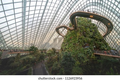 2/7/18 , Cloud forest dome, Gardens by the bay, Singapore