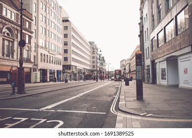 27/3/20 in London. During the quarantine period from coronavirus. A walk in the empty town