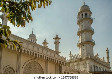 -27-Dec-2014-minarets Sakchi Masjid - Jamshedpur Jharkhand INDIA asia