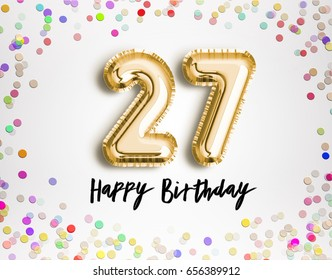 27th Birthday Images Stock Photos Vectors Shutterstock