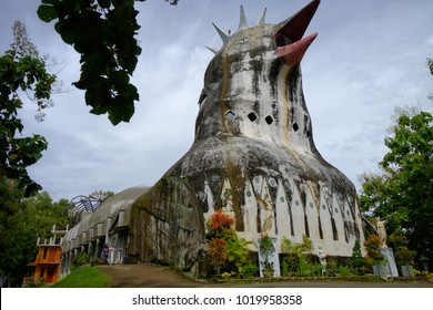 27th Jan, 2018. Magelang Yogyakarta. Chiken Church, a unique building on the hill of Rhema. Built since 1992. ( Gereja Ayam di bukit Rhema)
