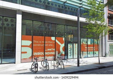 27th June 2019 Dublin, Ireland. The new Hubspot European headquarters offices in Sir John Rogerson's Quay on Dublin's South Docks