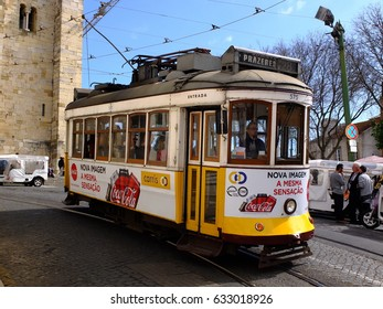 27th March 2017, Old tram in Lisbon, Portugal