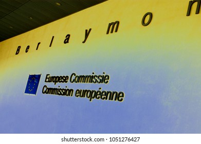 28 april, 2003. Brussels, Belgium. The Berlaymont building houses the headquarters of the EU commission.