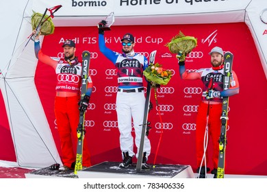 "28 December 2017 - Bormio (Italy) - AUDI FIS Ski World Cup - Italian rider skier Paris Dominik won the 1'6"" 95 at the Stelvio circuit."