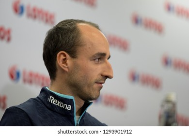 Częstochowa/Poland- 28 December 2018: press conference of Lotos Group S.A. with driver Robert Kubica and vice-chairman management of Lotos Group S.A. Jaroslaw Wittstock
