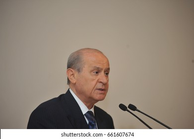 28 July 2010. Istanbul, Turkey. Devlet Bahceli is a Turkish politician who has been the chairman of the Nationalist Movement Party (MHP) since 6 July 1997.