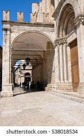 28 july 2014-ascoli piceno-italy-the streets of the beautiful city of Ascoli Piceno