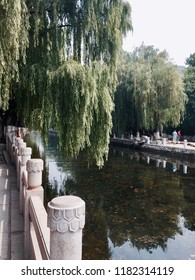 "‎⁨Jinan⁩, ⁨Shandong⁩, ⁨China⁩ - 28 June 2015: The town park of pound water, the famous ""Black Tiger Spring"" in Jinan."