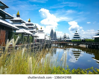 Chanthaburi / Thailand April 28 2019 : Rattana Buri homestay modern and resort famous located in Laem  sing  district and landscape coffe Shop and food, relaxt holiday travel